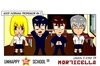 Cartoon: US lesson 0 Strip 7 (small) by morticella tagged uslesson0,unhappy,school,morticella,manga