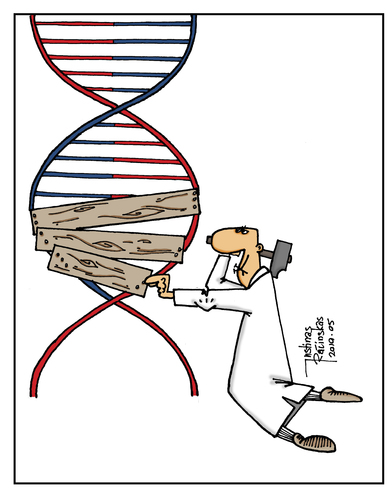 Cartoon: DNA (medium) by Justinas tagged dna