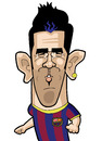Cartoon: David Villa (small) by Ca11an tagged vavid,villa,barcalona,spain,caricatures,world,cup,legends,book