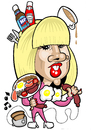 Cartoon: Lady GaGa (small) by Ca11an tagged lady,gaga,caricature