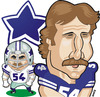 Cartoon: Randy White Dallas Cowboys (small) by Ca11an tagged randy,white,caricature,dallas,cowboys,the,manster,number,54,nfl,caricatures,american,football