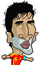 Cartoon: Raul (small) by Ca11an tagged raul,caricature,world,cup,legends