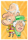 Cartoon: The Queen (small) by Ca11an tagged the,queen,prince,phillip,caricature
