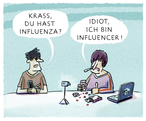 Cartoon: Ansteckungsgefahr (medium) by markus-grolik tagged you,tube,influencer,grippe,internet,werbung,web,blog,blogger,netz,follower,facebook,google,twitter,instagramm,pinterest,krankheit,pharma,marketing,konzerne,you,tube,influencer,grippe,internet,werbung,web,blog,blogger,netz,follower,facebook,google,twitter,instagramm,pinterest,krankheit,pharma,marketing,konzerne