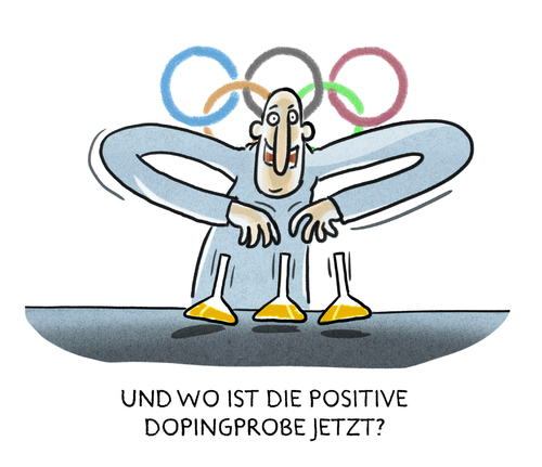 Cartoon: ...olympisches Versteckspiel... (medium) by markus-grolik tagged doping,ioc,olympia,rio,olympische,spiele,spitzensport,leistungssport,funktionäregrolik,doping,ioc,olympia,rio,olympische,spiele,spitzensport,leistungssport,funktionäregrolik