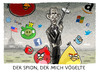 Cartoon: ... (small) by markus-grolik tagged nsa,spion,vögel,amazon,facebook,google,twitter,microsoft,apple,social,networks,angry,birds,nokia,zuckerberg,obama,usa,ausspähen,spähprogramm,cartoon,grolik