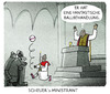 Cartoon: ... (small) by markus-grolik tagged csu,andreas,scheuer,seehofer,horst,obergrenze,integration,immigration