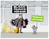 Cartoon: .... (small) by markus-grolik tagged black,friday,fridays,for,future,konsum,natur,ressourcen,klimawandel,luxus,kapitalismus,wirtschaft,amazon,zalando,jugend,zukunft