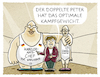 Cartoon: Altmaier (small) by markus-grolik tagged wahlkampf,cdu,merkel,angela,peter,tauber,altmaier,doppelfunktion,kanzleramtschef,generalsekretär