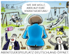 Cartoon: Corona-Lockerungen (small) by markus-grolik tagged verantwortung,abenteuer,abenteuerspielplatz,ministerpraesidenten,corona,pandemie,merkel,soeder,laschet,spd,cdu,csu,groko,berlin,bund,laender,foerderalismus