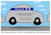 Cartoon: ...der VW-Windows-95 (small) by markus-grolik tagged vw,microsoft,windows,volkswagen