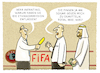 Cartoon: ...FIFA-Gianni... (small) by markus-grolik tagged gianni,infantino,korruption,ethikkommission,uefa,fussball,saudi,geld,bestechung,vergabe,wmbeckenbauer,blatter