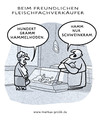 Cartoon: Fleischfachverkäufer (small) by markus-grolik tagged flesich