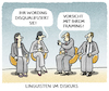 Cartoon: Kommunikation (small) by markus-grolik tagged linguistik,linguisten,framing,wording,sprache,kommunikation,talk,talkshow,format,deutschland,winssenschaft,tv,experten