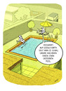 Cartoon: Poolneid (small) by markus-grolik tagged pool,poolneid,google,earth,maps,internet,web,vergleich,probleme,neidgesellschaft,cartoon,grolik
