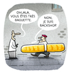 Cartoon: ..savoir vivre... (small) by markus-grolik tagged france,fussballmeisterschaft,fussball,frankreich,em,europa,paris,baguette,backshop
