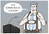 Cartoon: Söder lockert.... (small) by markus-grolik tagged lockerungen,kontaktverbot,mia,san,aussenseiter,entscheidung,pandemie,ladenoeffnungen,spielplaetze,oeffnungen,corona,bayern,soeder