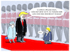 Cartoon: Staatsbesuch (small) by markus-grolik tagged queen,elisabeth,trump,donald,usa,megan,boris,brexit,johnson,europa,politik,königshaus,harry,mode,style