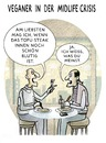 Cartoon: VEGETARISCHER BURN-OUT (small) by markus-grolik tagged midlife,crisis,krise,mittagspause,menu,essen,tofu,steak,fast,food,veganer,vegetarisch,vegetarier,fleisch,rohkost