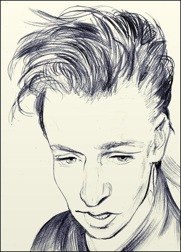 Cartoon: Alan Wilder (medium) by condemned2love tagged depeche,mode