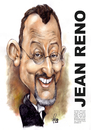 Cartoon: Jean Reno (small) by Szena tagged author,film,director,jean,reno,french