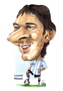Cartoon: Lionel Messi (small) by Szena tagged caricatur,messi,argentine,barcelona,football,star