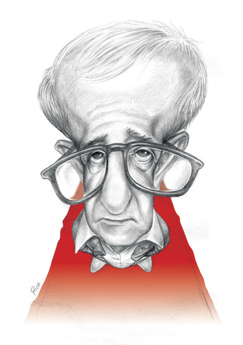 Cartoon: Woody allen (medium) by ricearaujo tagged woody,allen,caricature,pencil,draw
