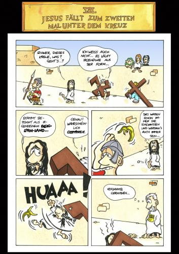 Cartoon: Passion Part 7 (medium) by Marcus Trepesch tagged jesus,irony,iron,funnies,fun