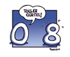 Cartoon: 0 und 8 (small) by Marcus Trepesch tagged numbers nonsense cartoon german