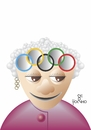 Cartoon: Queen (small) by Tonho tagged olympic,queen,crown