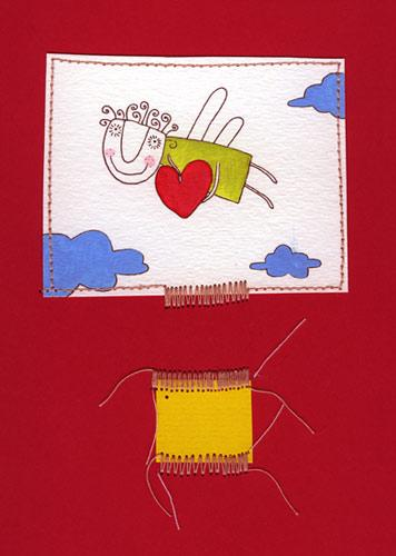 Cartoon: Sunny Valentine.s Day! (medium) by flyingfly tagged greeting,card,holiday,love,valentines,day,sun,angel,clouds
