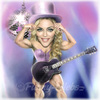 Cartoon: Madonna (small) by funny-celebs tagged madonna music singer actress queen of pop like virgin prayer guy ritchie sean penn fitness bodybuilding