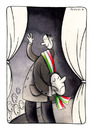 Cartoon: Italian Political Theatre (small) by Pecchia tagged cartoon,pecchia,humour,politics