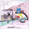 Cartoon: TodTod Navigation (small) by Storch tagged geisterfahrer,tunnel,autobahn,tod,sense,leitplanke