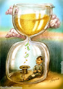Cartoon: Time is money (small) by hopsy tagged time is money riches richness sucess life aim pink clouds mountain beggar hat hour glass sand minute