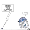 Cartoon: ... (small) by Anjo tagged starwars,mutter,vater,r2d2