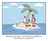 Cartoon: coconut desserted island (small) by creative jones tagged canoe palm tree desert island narrative