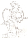 Cartoon: Achilles 2 (small) by agiov tagged achilles,greek,mythology