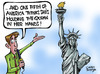 Cartoon: Obama-Islam and America! (small) by Satish Acharya tagged obama,america,islam,ground,zero