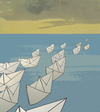 Cartoon: exode (small) by No tagged exode,exodus,italy,tunisie,immigration,lampedusa