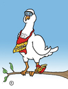 Cartoon: Pizza Bird (small) by Musluk tagged pizzapitch