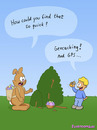 Cartoon: GPS (small) by fcartoons tagged gps,easter,bunny,boy,geo,geocache,eggs,geocaching,nest,bush,fcartoons,cartoon