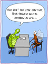 Cartoon: REQUEST (small) by fcartoons tagged chair,dayfly,desk,fly,office,request,turtle
