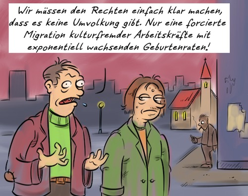 Cartoon: Umvolkung (medium) by Rob tagged umfolkung,replacement,migration,volk,people,kultur,culture