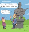 Cartoon: Geschichte (small) by Rob tagged geschichte,history,statue,monument,krieg,war,fake,news,lie,lüge,soldat,soldier