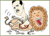 Cartoon: LION LION LION (small) by AHMEDSAMIRFARID tagged lion,assad,bashar,syria,egypt,revolution,ahmed,samir,farid