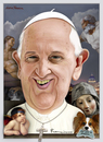 Cartoon: Pope Francis (small) by Maria Hamrin tagged franciscus,caricature,jesuit,catholic,christianity,leader,italy,vatican,argentina,buenos,aires,gregory,111
