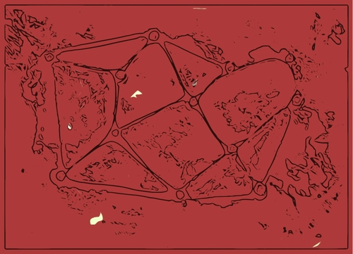 Cartoon: Red abstract- crystal mountains (medium) by Krzychu tagged graphic,geometry,red,abstract