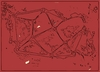Cartoon: Red abstract- crystal mountains (small) by Krzychu tagged abstract,red,geometry,graphic