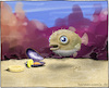 Cartoon: Kugelfisch (small) by Hannes tagged kugelfisch,blowfish,meerwasser,aquarium,banane,miesmuschel,haustier,futter,fisch,digitalpainting